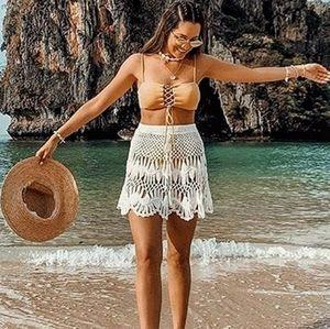 New Crochet Bohemian Swim Cover Up Skirt